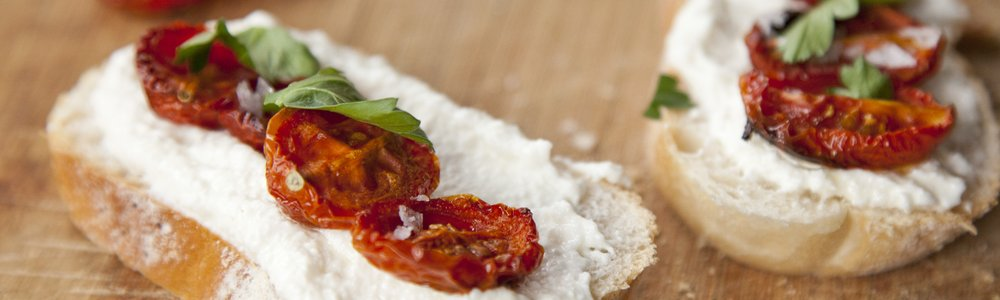 Ricotta & Roasted Tomato Bruschetta