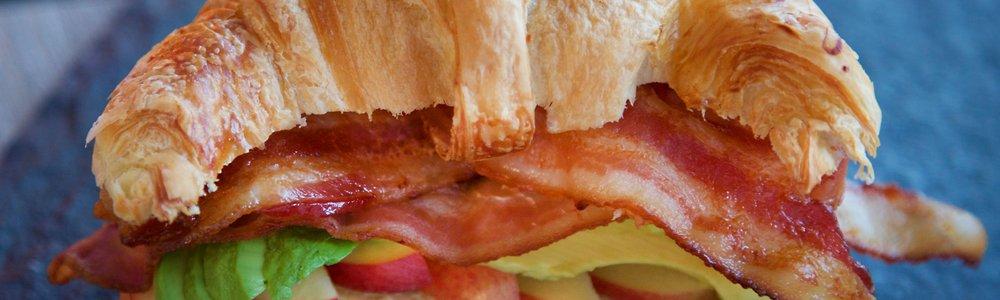 Bacon, Avocado, & Apple Croissant Sandwiches