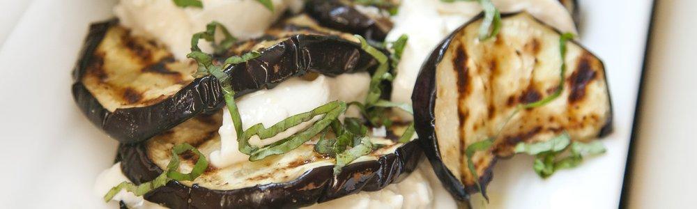 Grilled Eggplant with Fresh Burrata