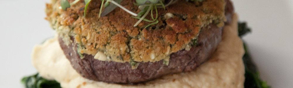 Herb Crusted Tenderloin with Celery Root Puree