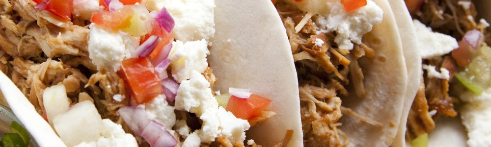 BBQ Pork Tacos with Queso Fresco