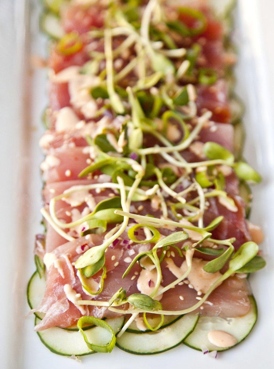 Urbancookery tuna sashimi with ponzu sauce for Sashimi dressing