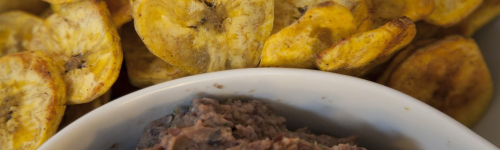 Plantains with Black Bean Dip