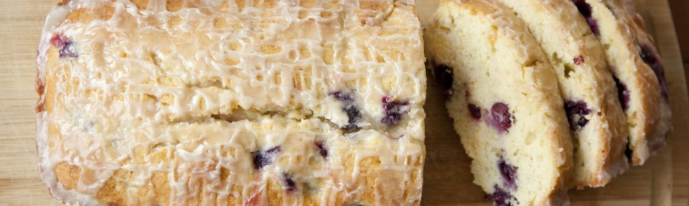 Blueberry Lemon Cake with a Lemon Glaze