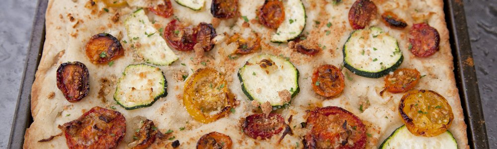 Heirloom Tomato & Zucchini Foccacia