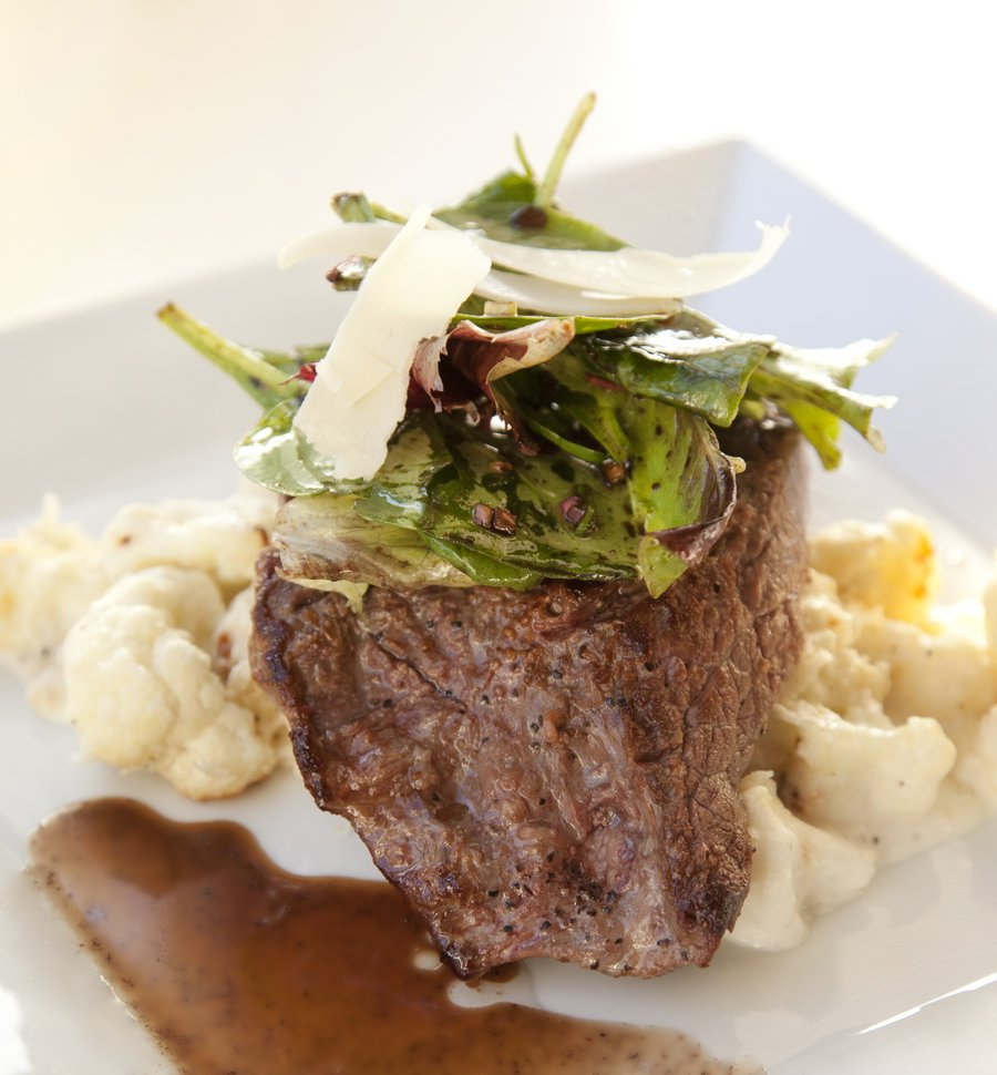 UrbanCookery - Seared Flank Steak with a Cauliflower Gratin