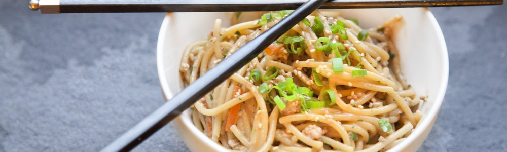 Chinese Peanut Noodles with Pork