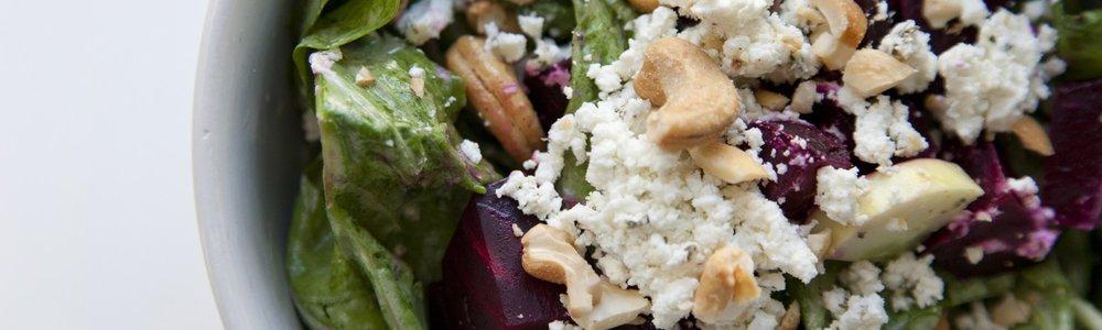 Beet, Goat Cheese & Arugula Salad